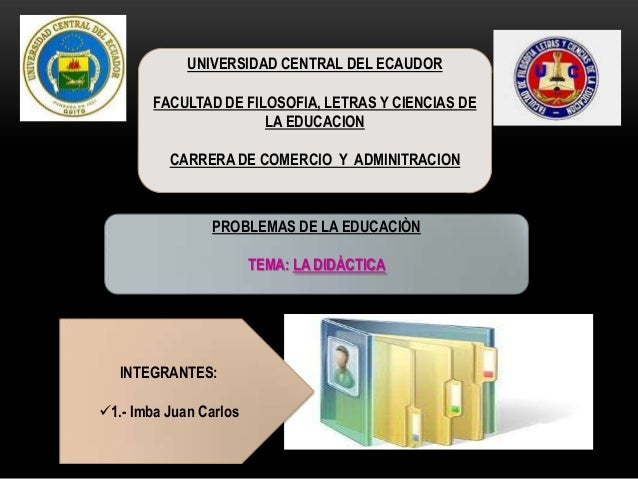 UNIVERSIDAD CENTRAL DEL ECAUDOR FACULTAD DE FILOSOFIA, LETRAS Y CIENCIAS DE LA EDUCACION CARRERA DE COMERCIO Y ADMINITRACI...
