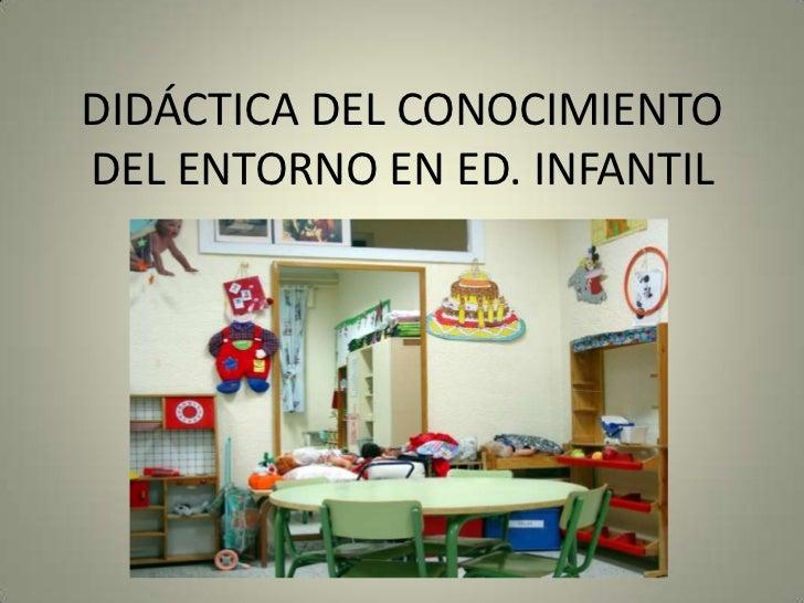 DIDÁCTICA DEL CONOCIMIENTODEL ENTORNO EN ED. INFANTIL        INSERTAR FOTO