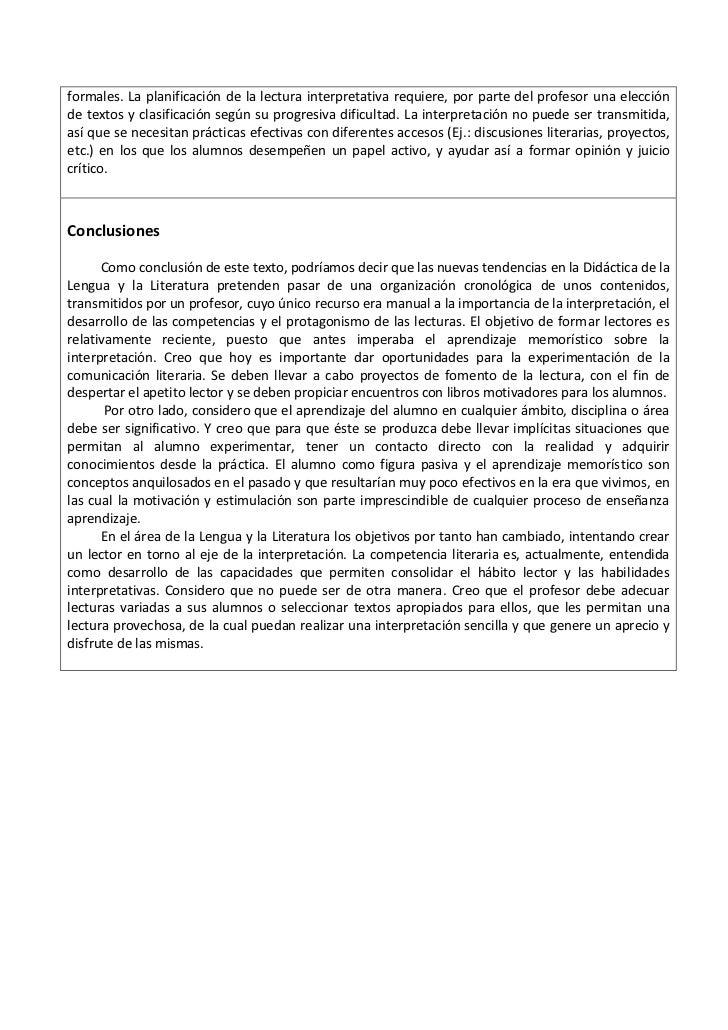 formales. La planificación de la lectura interpretativa requiere, por parte del profesor una elecciónde textos y clasifica...