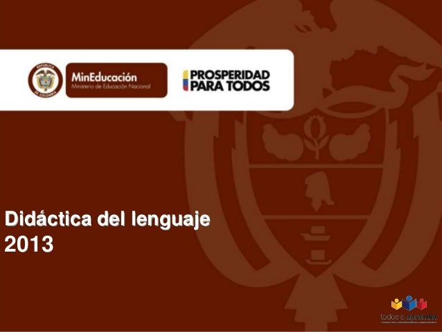 Didáctica del lenguaje 2013