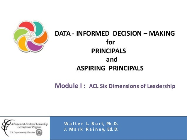 Data-Based Problem Solving and Decision-Making