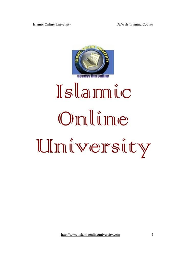 Islamic Online University                            Da'wah Training Course  Islamic  Online University                  h...