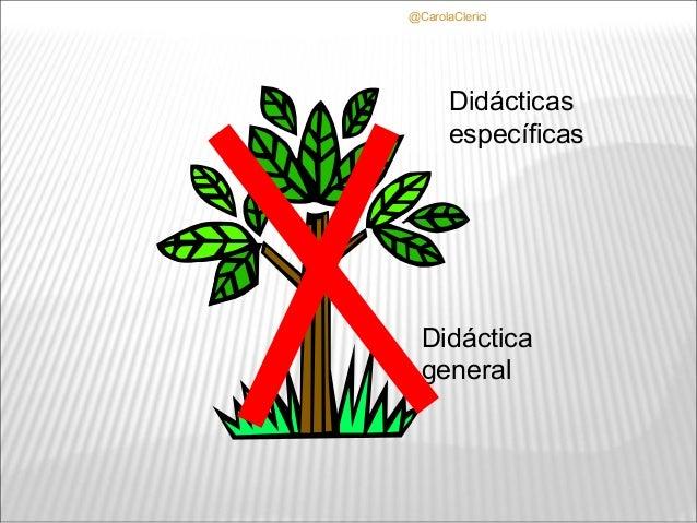 @CarolaClerici       Didácticas       específicas  Didáctica  general