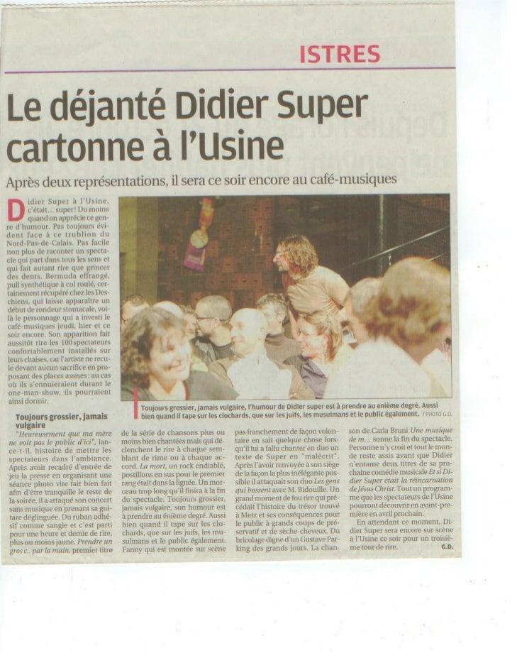 La Voix du Nord 24-02-2011Article + interview filméePar : François Léger et Natalie GrosskopfLien articleLien interview fi...