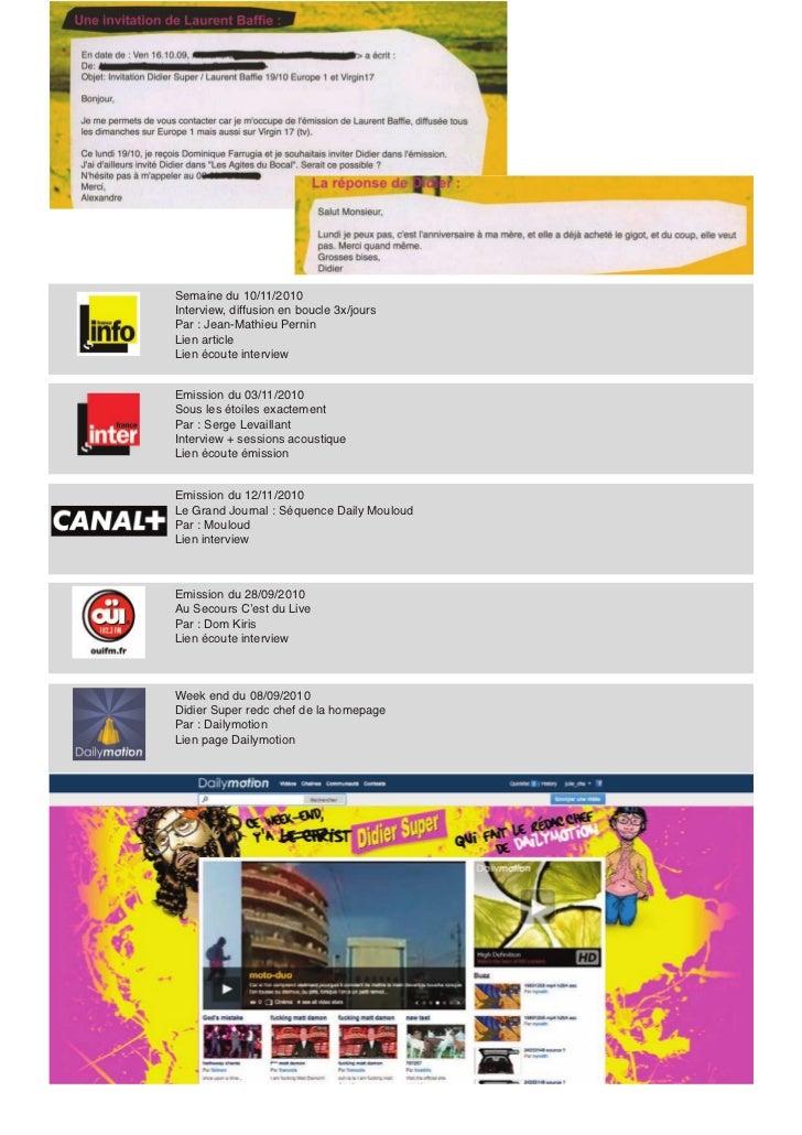 Le Scandaleux 07-12-2010                                            Article + interview filmée                            ...