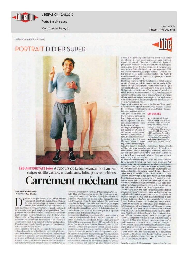 Musique Mag 27/01/2011           Article + interview filmée           Par : Aurélien Kievitch           Lien article      ...