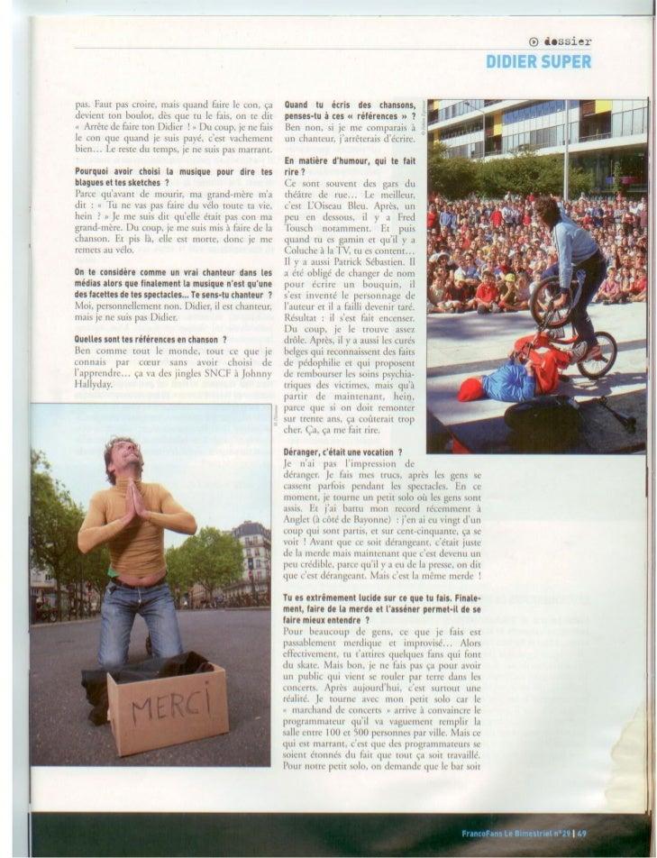 LIBERATION 05/11/2010Article, report comédie musicalePar : Gilles Renault                                            Lien ...