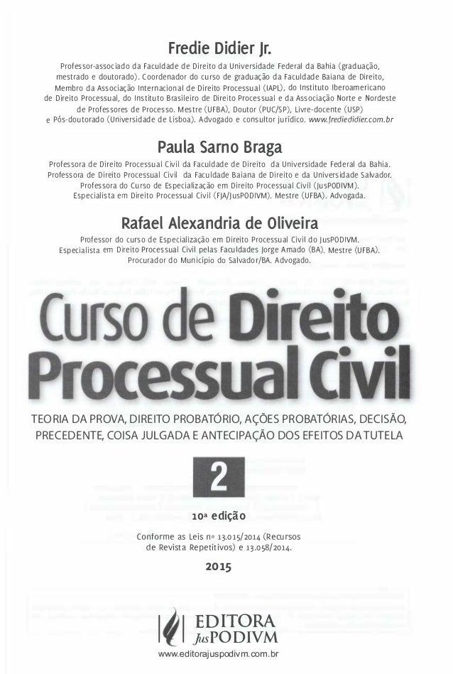 Curso de processo civil fredie didier