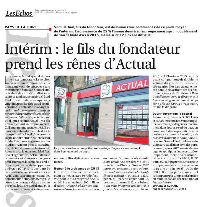 Tous droits réservés - Les Echos                          201217/1/2012P.18Entreprises et régionsPAYS DE LA LOIRE         ...