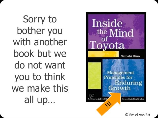 © Emiel van Est Sorry to bother you with another book but we do not want you to think we make this all up…