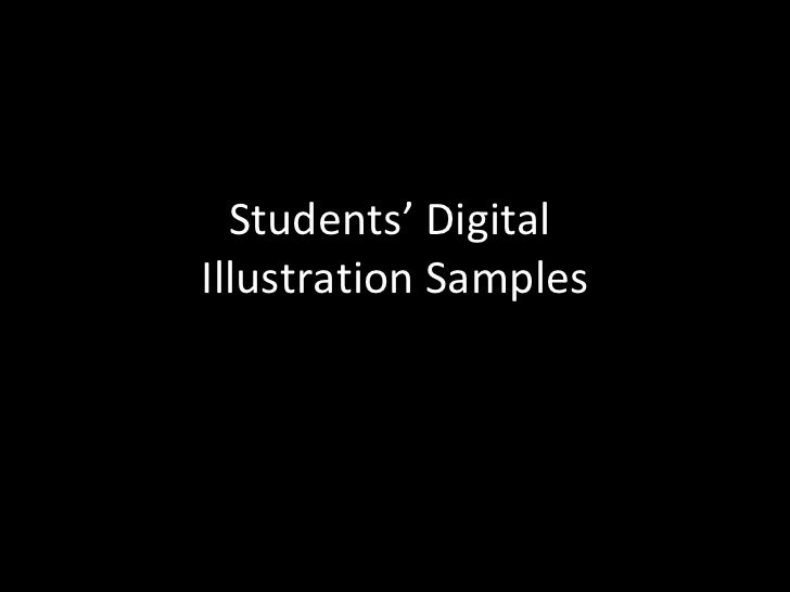 Students' Digital  Illustration Samples