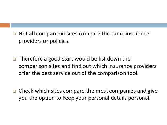 Car Insurance Companies Not On Price Comparison Sites