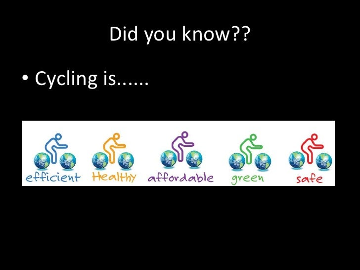 Did you know??<br />Cycling is......<br />