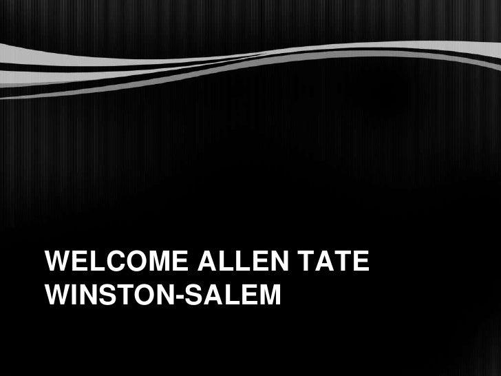 Welcome Allen Tate Winston-Salem<br />
