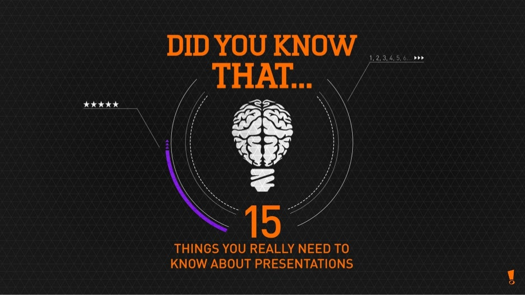15 things that you really should know about presentations!