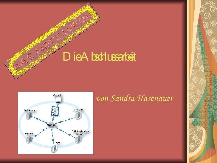 Die Abschlussarbeit von Sandra Hasenauer