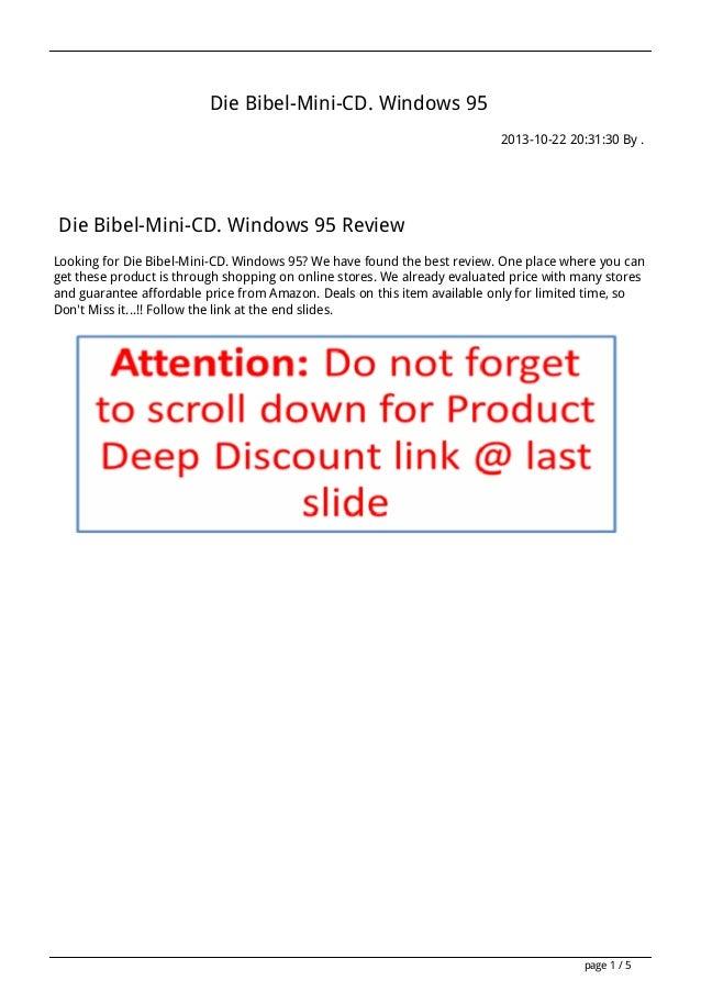 Die Bibel-Mini-CD. Windows 95 2013-10-22 20:31:30 By .  Die Bibel-Mini-CD. Windows 95 Review Looking for Die Bibel-Mini-CD...