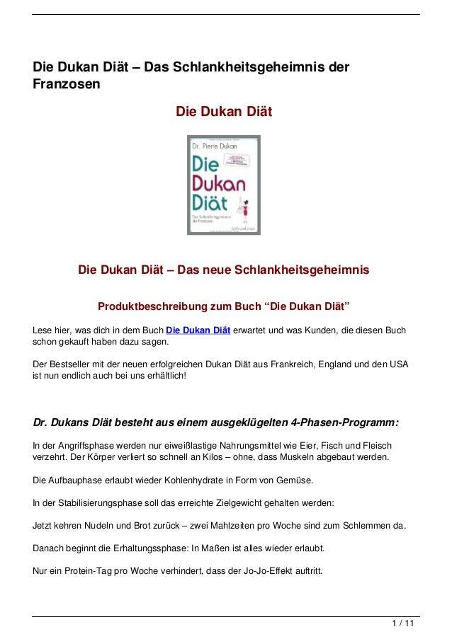 Die Dukan Diät – Das Schlankheitsgeheimnis derFranzosen                                   Die Dukan Diät           Die Duk...