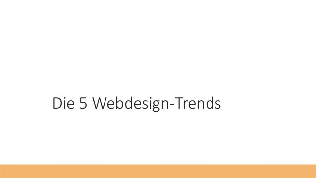 Die 5 Webdesign-Trends