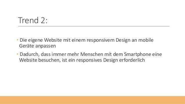 Die 5 Webdesign-Trends Slide 3