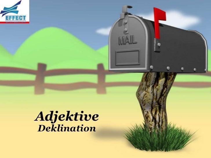 AdjektiveDeklination