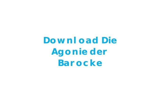 Download Die Agonie der Barocke
