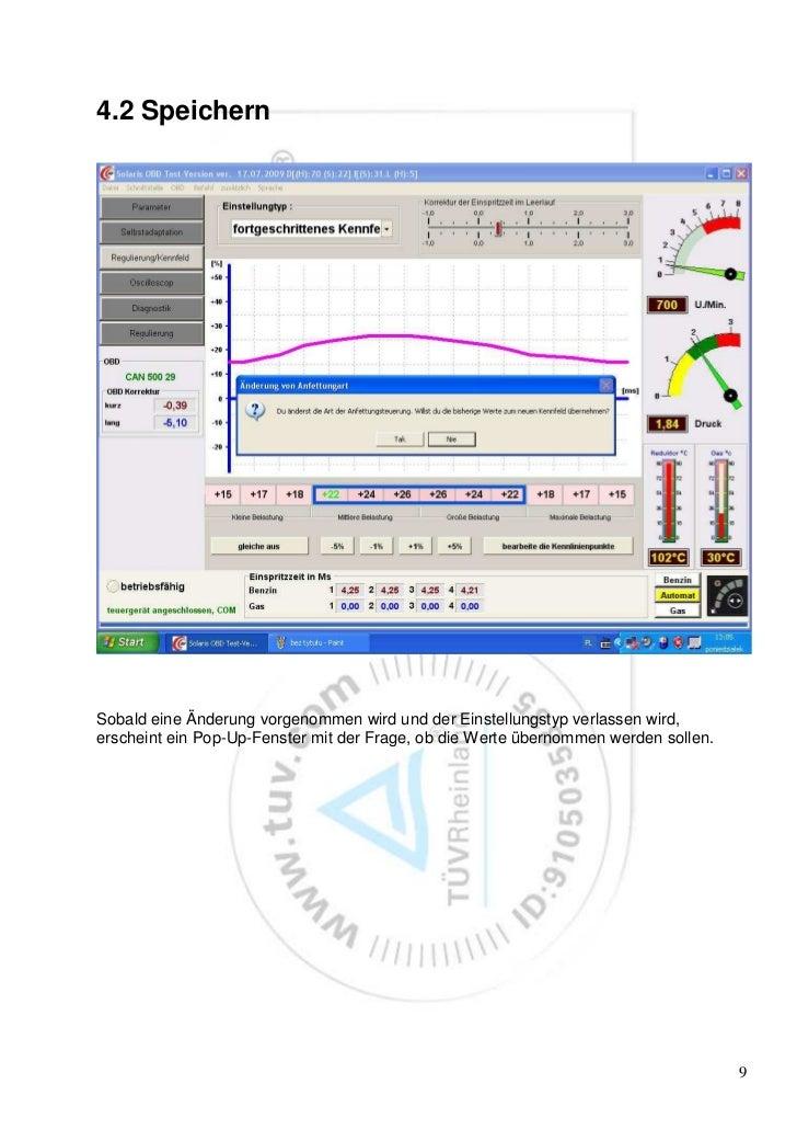4.2 SpeichernSobald eine Änderung vorgenommen wird und der Einstellungstyp verlassen wird,erscheint ein Pop-Up-Fenster mit...