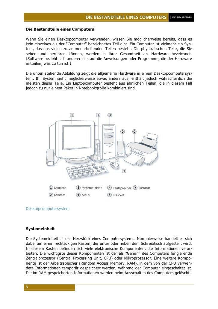 Arbeitsblatt Computer Beschriften : Die bestandteile eines computers