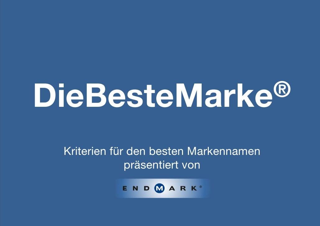 DieBesteMarke® Kriterien für den besten Markennamen              präsentiert von