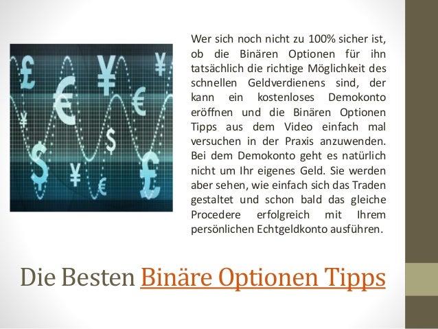Tipps Binäre Optionen