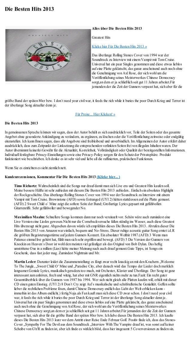 Die Besten Hits 2013                                                               Alles über Die Besten Hits 2013        ...
