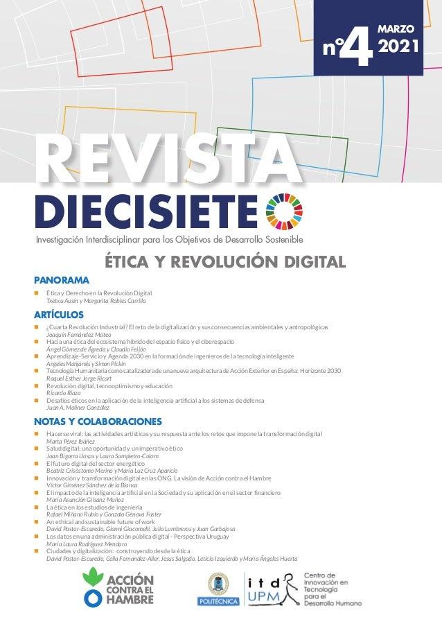 diecisiete revista MARZO 2021 4 nº Investigación Interdisciplinar para los Objetivos de Desarrollo Sostenible Ética y revo...