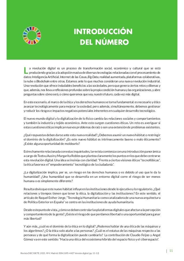 16 Revista Diecisiete  panorama Ética y Derecho en la Revolución Digital. Margarita Robles y Txetxu Ausin Revista DIECISI...