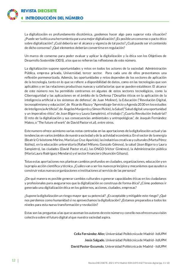 17 Revista Diecisiete panorama  Ética y Derecho en la Revolución Digital. Margarita Robles y Txetxu Ausin Revista DIECISI...