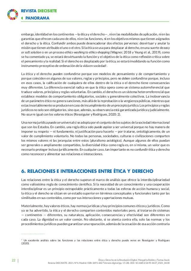 27 Revista Diecisiete panorama  Ética y Derecho en la Revolución Digital. Margarita Robles y Txetxu Ausin Revista DIECISI...