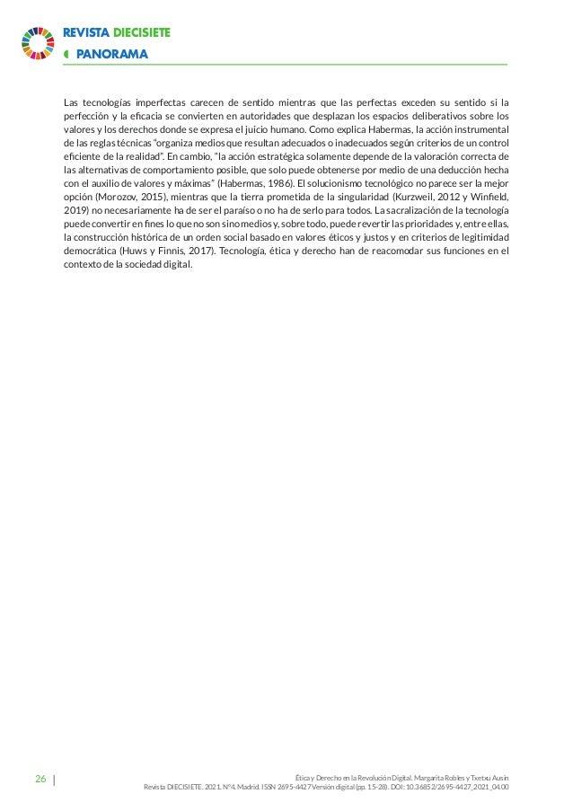 32 Revista Diecisiete  ARTÍCULO ¿Cuarta Revolución Industrial? El reto de la digitalización y sus consecuencias ambiental...