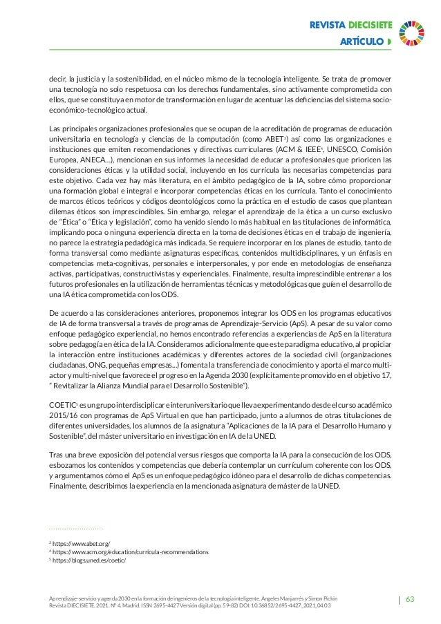 Ética y Revolución Digital . revista Diecisiete nº 4. 2021