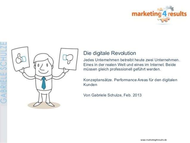 Die digitale RevolutionJedes Unternehmen betreibt heute zwei Unternehmen.Eines in der realen Welt und eines im Internet. B...