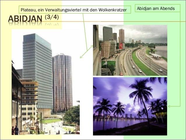 Plateau, ein Verwaltungsviertel mit den Wolkenkratzer Abidjan am Abends