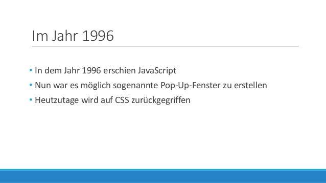 Die Entwicklung des Webdesigns in den vergangenen Jahren Slide 2