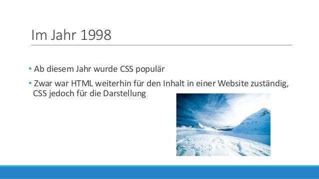 Die Entwicklung des Webdesigns in den vergangenen Jahren Slide 3