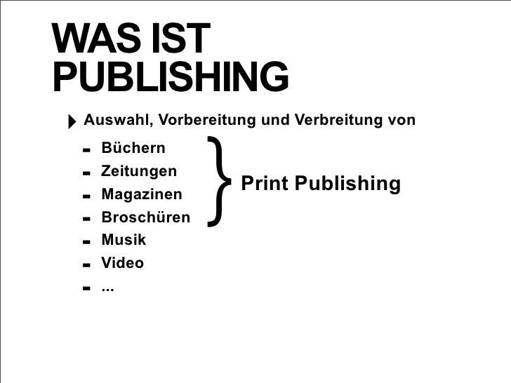 Die Evolution des Publishing Slide 3