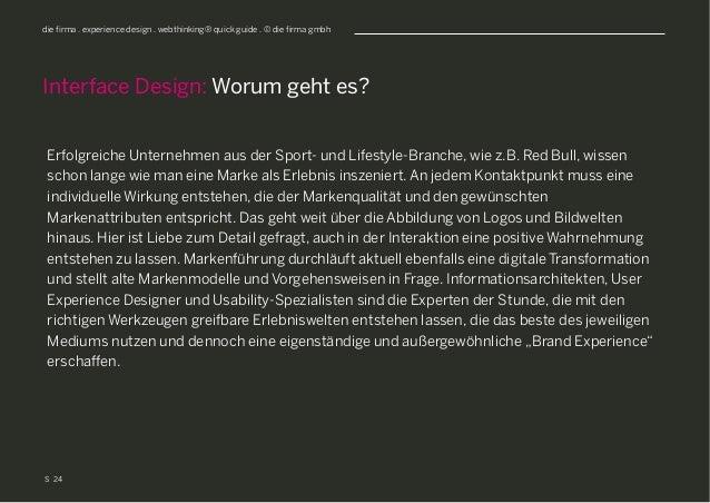 S die firma . experience design . webthinking® quick guide . © die firma gmbh Erfolgreiche Unternehmen aus der Sport- und ...