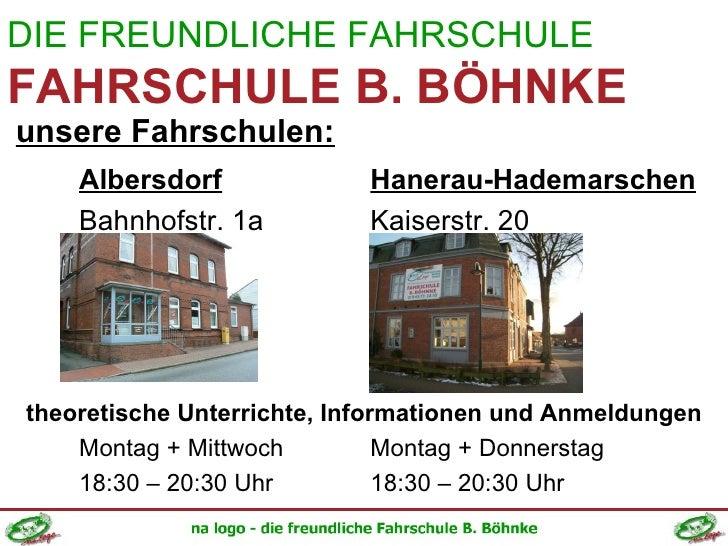 <ul><li>Albersdorf Hanerau-Hademarschen </li></ul><ul><li>Bahnhofstr. 1a Kaiserstr. 20 </li></ul><ul><li>theoretische Unte...