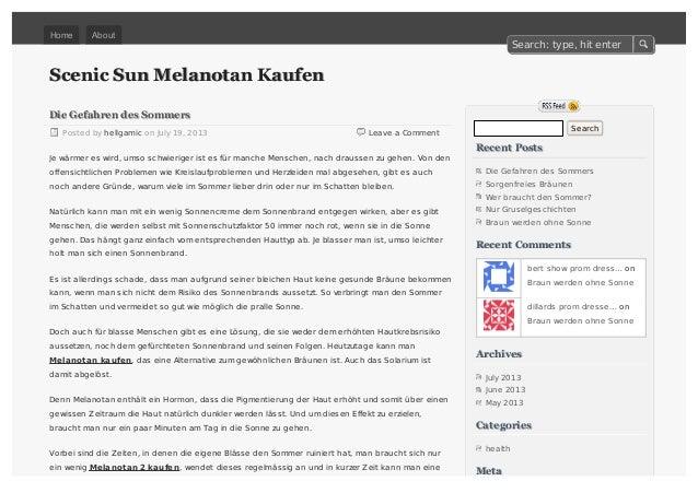 Scenic Sun Melanotan KaufenScenic Sun Melanotan Kaufen Leave a Comment Die Gefahren des SommersDie Gefahren des Sommers Po...