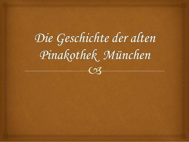 sammlungsgeschichte    Graf Schack  Als Kunstsammler war es das Anliegen des  Grafen Schack, bis dahin unterschätzte  sow...