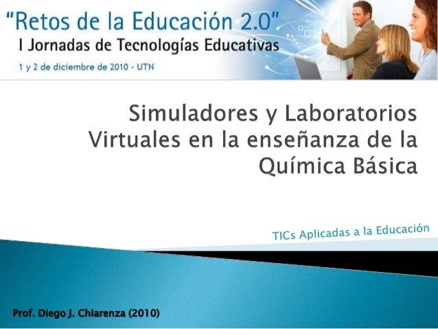 Prof. Diego J. Chiarenza (2010)
