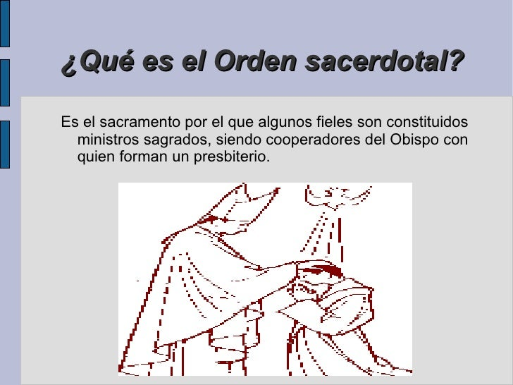 Matrimonio Que Es El : Sacramento del orden sacerdotal