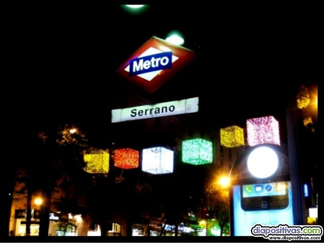 "coloridos cubos nos iluminan en la confluencia de Serrano con ""Goya"""