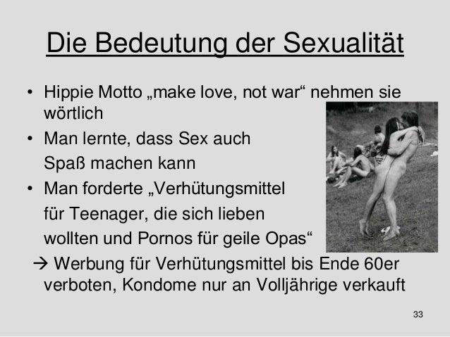 BEDEUTUNG VON SEXUALITÄT